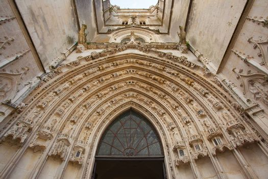 Archivolts of the Saint Pierre Cathedral in Saintes, France