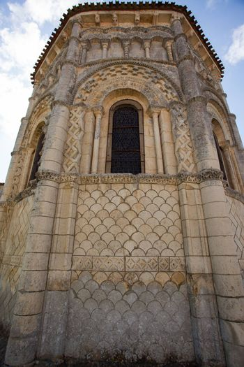 Abse of the romanesque Rioux church,Charente, France