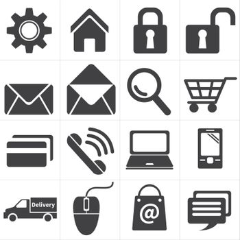 icon e commerce and shopping