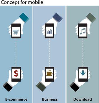 mobile concept e-commerce , business , download