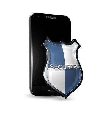abstract illustration of a shield for smartphone