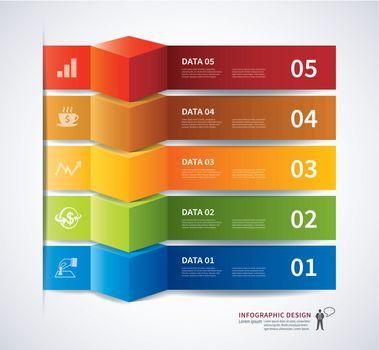 infographics tab data banner 3d