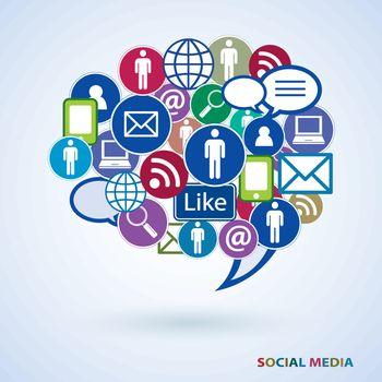 Icons of social media