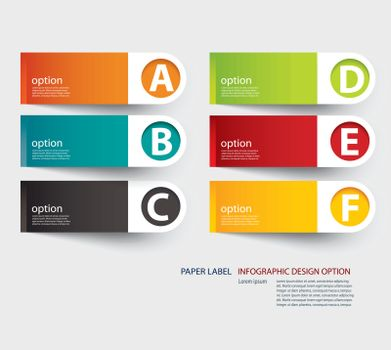 infographic label tab template