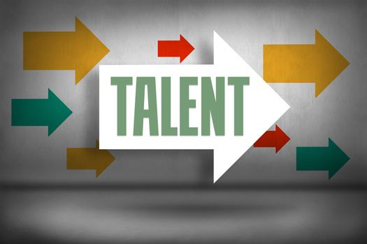 Talent against arrows pointing
