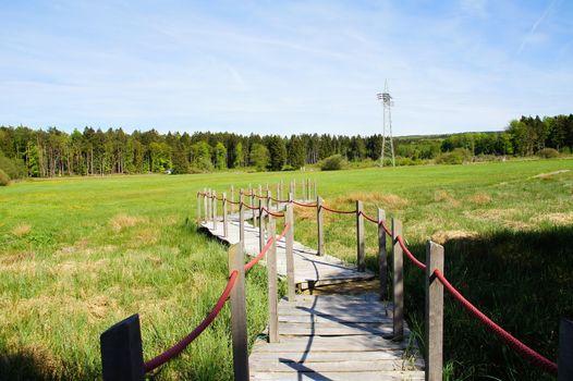 Holzsteg zur Arnikaschleife bei Morbach