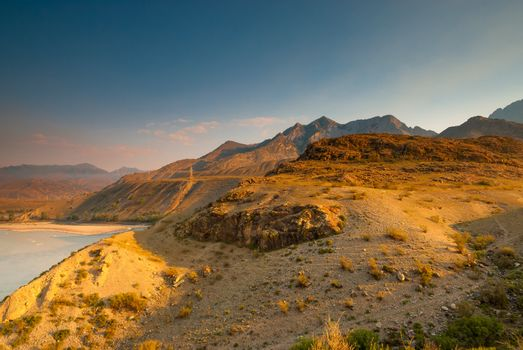 deserted rocky mountains of Altai region, Russia