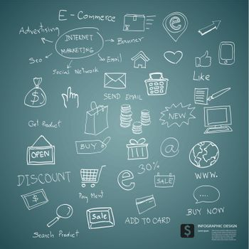 drawing e commerce plan concept