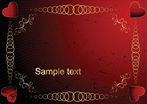 Grunge editable vector Valentines day background
