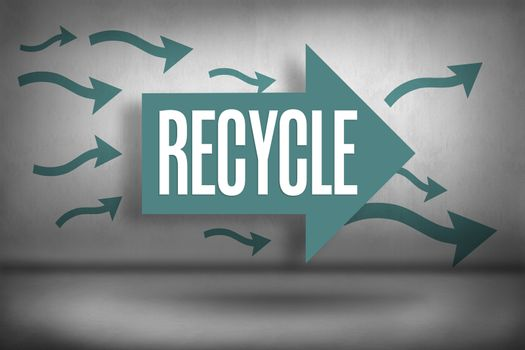 Recycle against arrows pointing