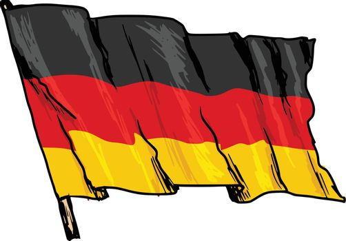 hand drawn, sketch, illustration of flag of Germany