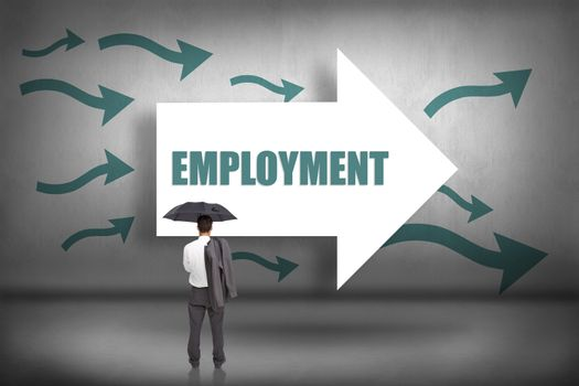 Employment against arrows pointing