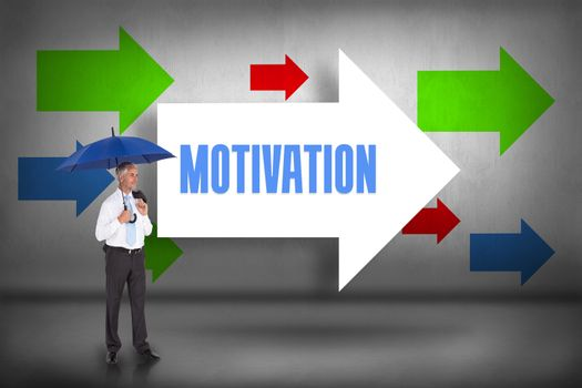 Motivation against arrows pointing