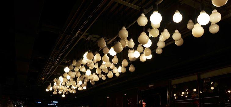 lighting decorating on ceiling