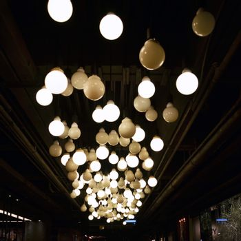 lamps decorated on ceiling
