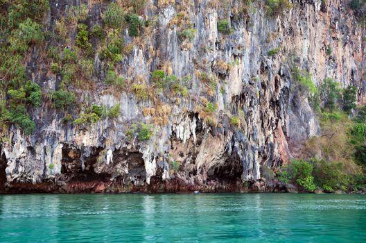 Cliff of James Bond Island in Phang Nga