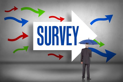 Survey against arrows pointing