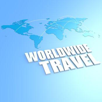 Worldwide travel world map