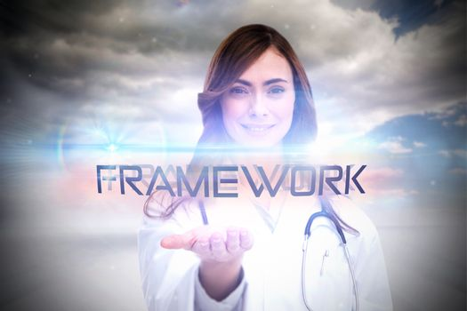 Framework against cloudy sky