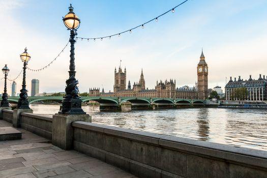 London morning cityscape