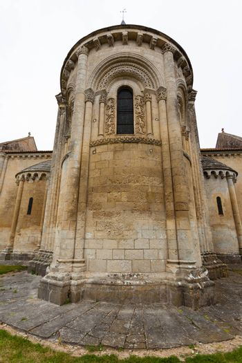 Abse of Aulnay de Saintonge church in Charente Maritime region of France
