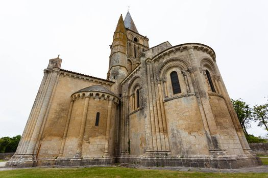 Chevet of Aulnay de Saintonge church in Charente Maritime region of France