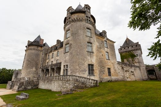 La Roche Courbon  castle in charente maritime region of France