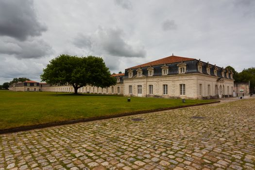 Full view of the corderie royale historical monument in the city of Rochefort charente maritime region of France