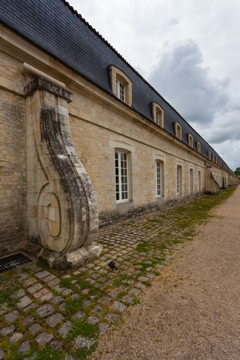 Buttress of the corderie royale historical monument in the city of Rochefort charente maritime region of France