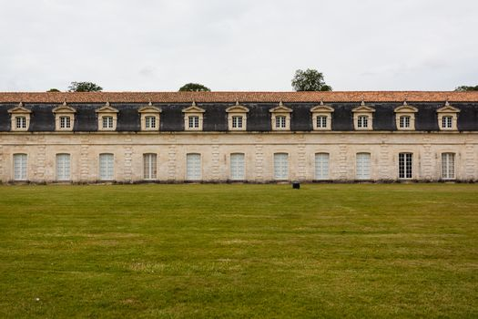 A section of the corderie royale historical monument in the city of Rochefort charente maritime region of France
