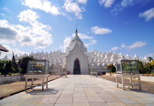 White pagoda of Hsinbyume paya temple, Mingun, Mandalay - Myanma