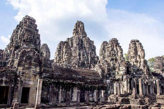 Bayon Temple in Angkor Thom, Cambodia