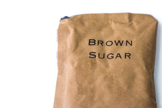 A bag of brown sugar - isolated over white background