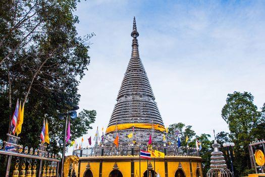 The stainless steel pagoda - Phra Maha Thad Chadi Tri Pob Tri Mo