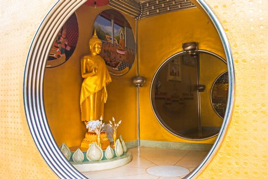Golden Buddha Statue in the Circle