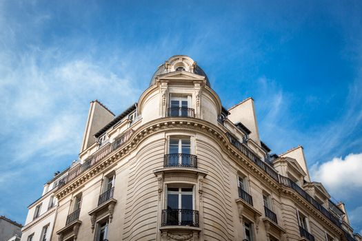 Exterior of a historical townhouse in Paris