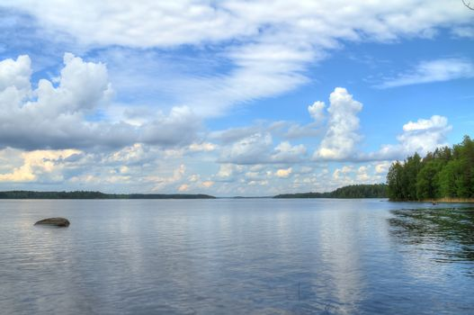 Beautiful blue lake view