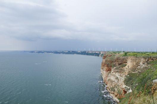 Photo of the Wavy Sea Clear Horizon, Cape Kaliakra, Bulgaria