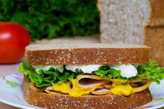Nutritious Chicken Sandwich