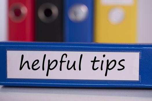 Helpful tips on blue business binder