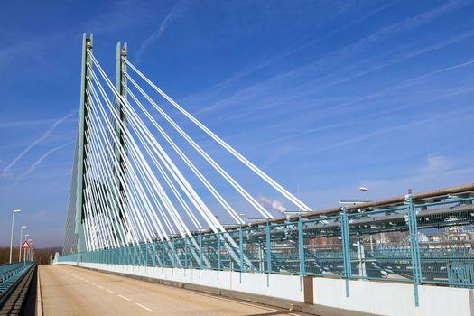 bridge of an Industry Park in beautiful landscape near Frankfurt