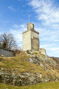 old Falkenstein castle under clear blue sky