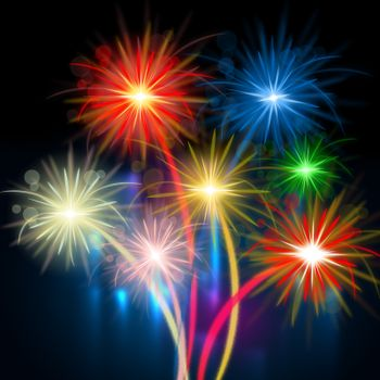 Color Fireworks Meaning Explosion Background And Celebration