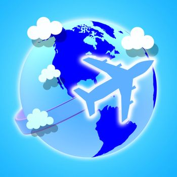 Flights Travel Representing Earth Airline And Explore