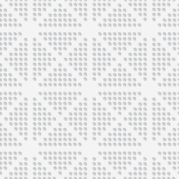 White dots perforated seamless