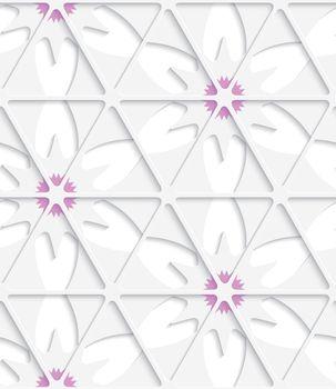 White triangular net and pink seamless