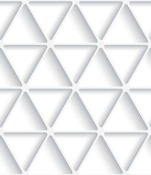 White triangular net seamless