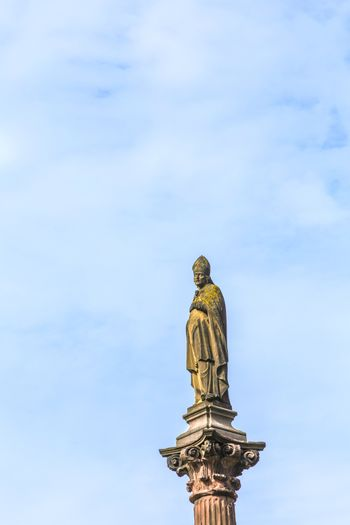 statue of bishop in freiburg
