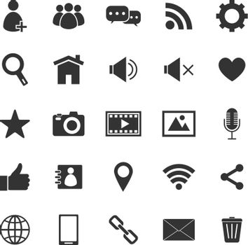 Chat icons on white background, stock photo