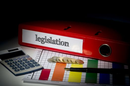 Legislation on red business binder